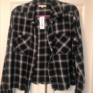 Cropped flannel, never worn